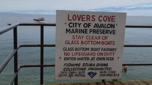 lovers cove sign